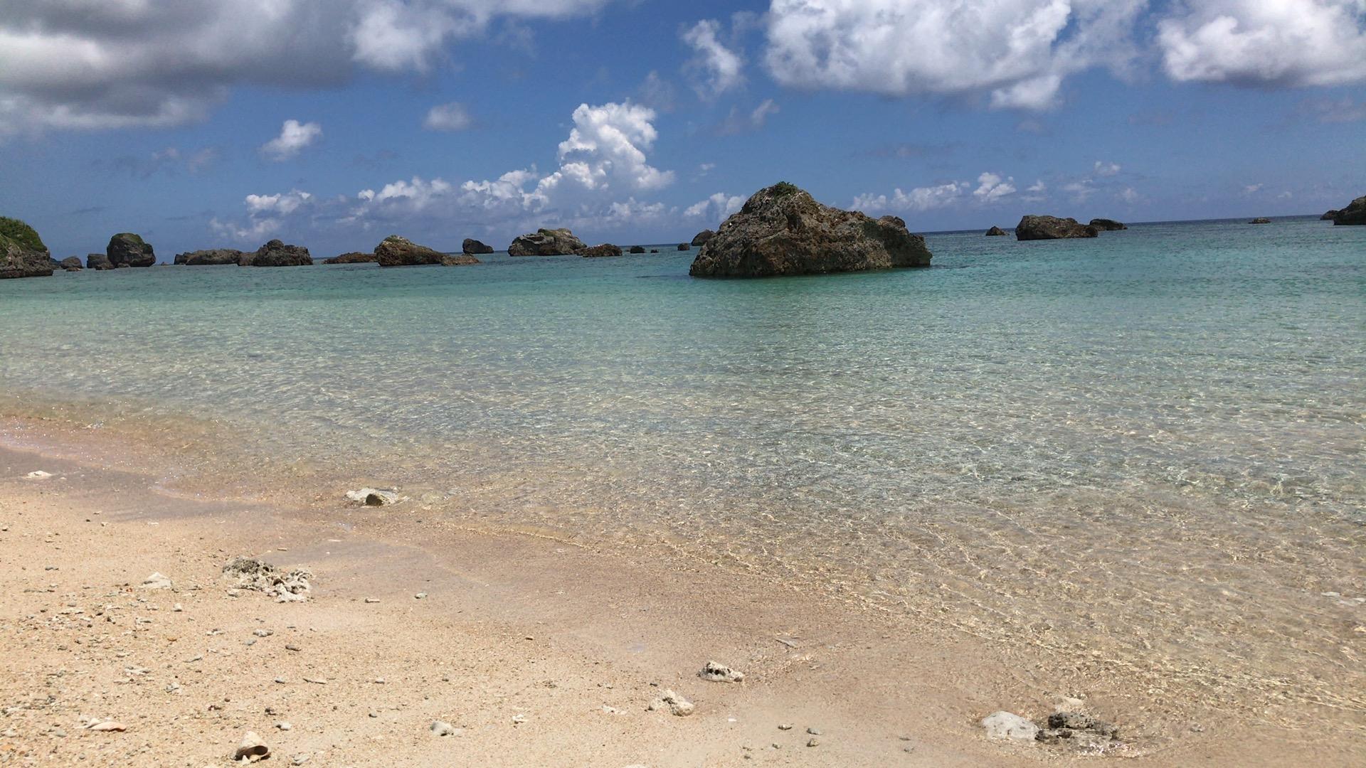宮古島旅行のビーチ