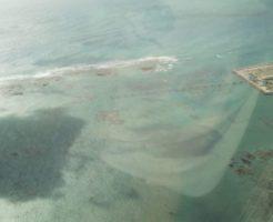 沖縄の飛行機からの撮影